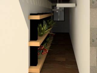 Modern corridor, hallway & stairs by Proyecta77 Modern