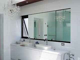 Baño Bosque de Niebla de Studioyg Diseño Interior