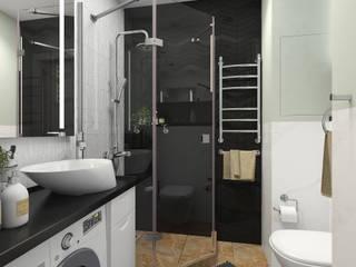 Маленькая студия в Бутово Ванная комната в скандинавском стиле от SK- Sokolova design & Kogut Stroy Скандинавский