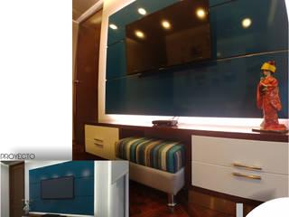 SALA DE ESTAR: Salas de entretenimiento de estilo moderno por B+ Studio