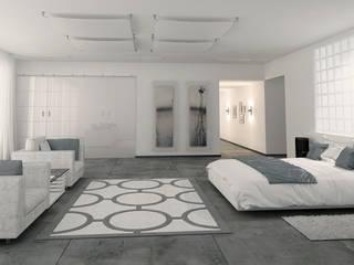 Chambre minimaliste par студия Design3F Minimaliste