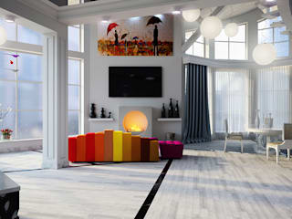 Living room by Architoria 3D, Minimalist