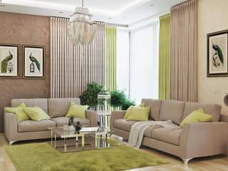 Salon minimaliste par студия Design3F Minimaliste