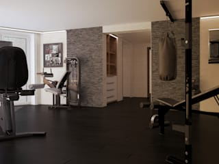 Salle de sport minimaliste par студия Design3F Minimaliste
