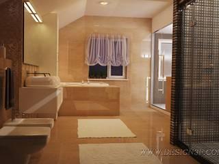 Salle de bain minimaliste par студия Design3F Minimaliste