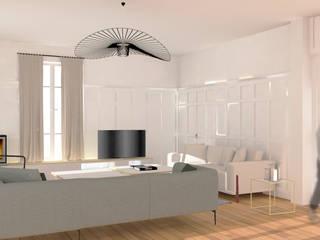 Maison Verrière Le Buisson (91): Salon de style de style Classique par Agence Delphine Coipel