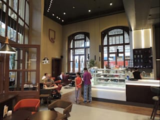 PRAGUE RAILWAY STATION FLAGSHIP STORE Studioapart Interior & Product design Barcelona Modern dining room