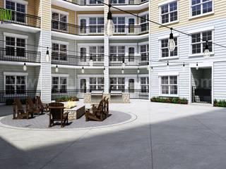 Modern High Rise Apartment Elevation Design by Yantram Architectural Visualisation Studio - Los Angeles, USA Modern Evler Yantram Architectural Design Studio Modern