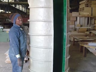 Fibreglass mould,  building column:  Multi-Family house by Buildart - Fibreglass Specialists