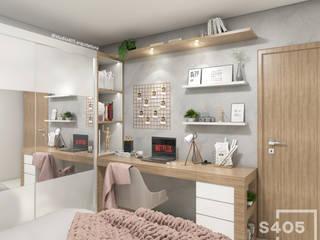 Scandinavian style bedroom by STUDIO 405 - ARQUITETURA & INTERIORES Scandinavian