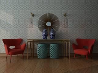 Halls de Entrada Corredores, halls e escadas clássicos por Bis-bis Design Studio Clássico