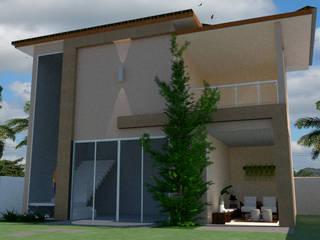 Fachada Residencial Casas modernas por Mariana Bittencourt Arquitetura Moderno