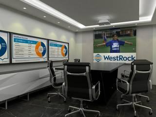 Sala de reunião:   por MVK Arquitetura, Engenharia e Construções