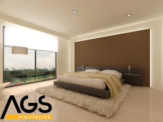 "PROYECTO ""RIOJA"": Recámaras de estilo  por AGS Arquitectos"