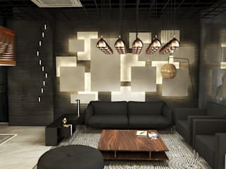 ANHSAO Showroom lighting:   by MEG Design Studio
