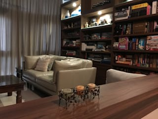 RENOVATED LIVING/DINING Mediterranean style living room by FINE ART LIVING PTE LTD Mediterranean