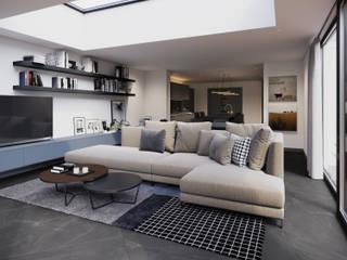 Living room by FALCHI INTERIORS LTD