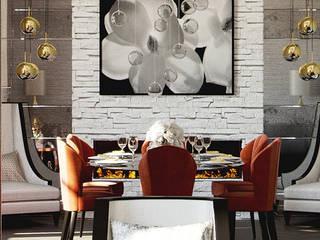Dining room by FALCHI INTERIORS LTD