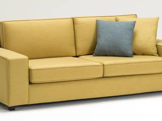 Doha Serisi Üçlü Kanepe Sarı K105 Mobilya Pazarlama Danışmanlık San.İç ve Dış Tic.LTD.ŞTİ. Oturma OdasıKanepe & Koltuklar Ahşap Sarı
