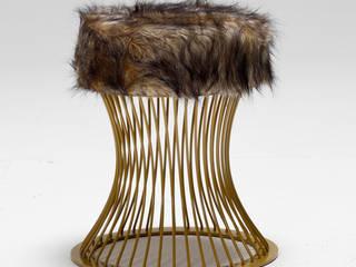Pufi Demir Ayaklı Puf K105 Mobilya Pazarlama Danışmanlık San.İç ve Dış Tic.LTD.ŞTİ. Oturma OdasıTabure & Sandalyeler Demir/Çelik Kahverengi