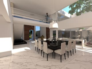 Casa C+S: Comedores de estilo moderno por D'ODORICO OFICINA DE ARQUITECTURA