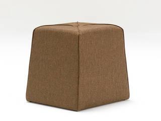 Muffin Düğmeli Puf Bordo K105 Mobilya Pazarlama Danışmanlık San.İç ve Dış Tic.LTD.ŞTİ. Oturma OdasıTabure & Sandalyeler Ahşap Kahverengi