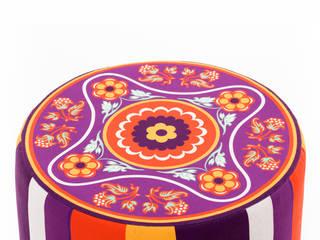 Lodi Puf Silindir K105 Mobilya Pazarlama Danışmanlık San.İç ve Dış Tic.LTD.ŞTİ. Oturma OdasıTabure & Sandalyeler Ahşap Rengarenk