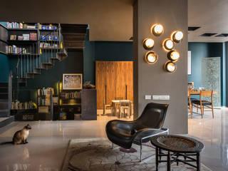 Vista de sala: Salas de estilo ecléctico por Paola Calzada Arquitectos