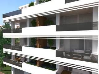 PROYECTO DE 42 VIVIENDAS EN ESTEPONA Casas de estilo moderno de GM ARQUITECTOS Moderno