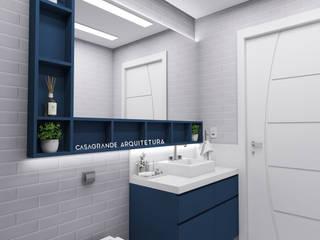 Banheiro Masculino - Azul: Banheiros  por CASAGRANDE ARQUITETURA