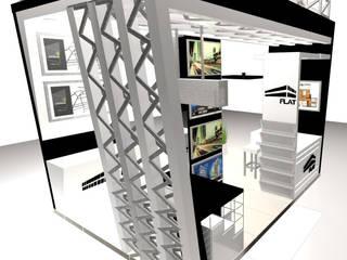 STAND FLAT -  FERIA: Escaleras de estilo  por Karla Alvarez - Arquitectura de Interiores