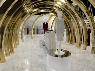 TIENDA BALMAIN : Pasillos y vestíbulos de estilo  por Karla Alvarez - Arquitectura de Interiores