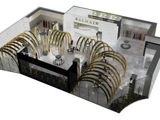TIENDA BALMAIN : Suelos de estilo  por Karla Alvarez - Arquitectura de Interiores