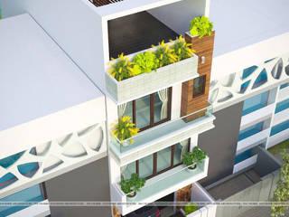 Nhà Phố hiện đại - Anh Thái bởi Công ty CP kiến trúc và xây dựng Eco Home