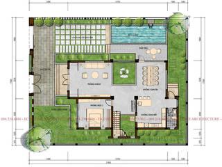 Thiết kế biệt thự mái chéo 3 tầng bởi Công ty CP kiến trúc và xây dựng Eco Home