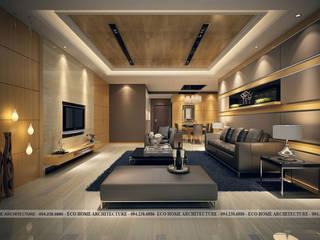 Thiết kế biệt thự hiện đại tại Vĩnh Phúc bởi Công ty CP kiến trúc và xây dựng Eco Home