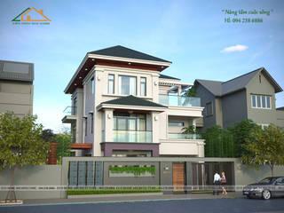 Biệt thự hiện đại phong cách Châu Âu bởi Công ty CP kiến trúc và xây dựng Eco Home