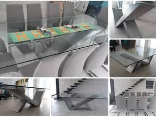 MESA DE DISEÑO ORIGINAL PARA 10 PERSONAS:  de estilo  por M.i. arquitectura & construcción