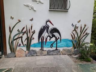 Mozaik Sanat Evi 花園柵欄與牆 磁磚
