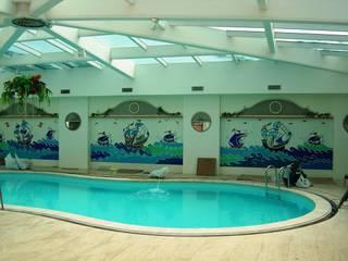 Mozaik Sanat Evi Piscinas de estilo clásico Azulejos