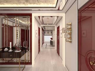 Pasillos, vestíbulos y escaleras de estilo ecléctico de Студия дизайна интерьера Руслана и Марии Грин Ecléctico
