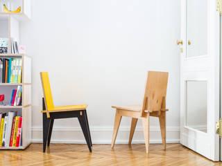 Krzesło Klinowe: styl , w kategorii  zaprojektowany przez Robert Pludra Industrial Design Studio