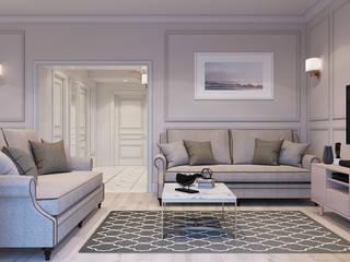 Дизайн интерьера коттеджа в п. Новобулгаково Гостиная в классическом стиле от Ymi-studio Классический