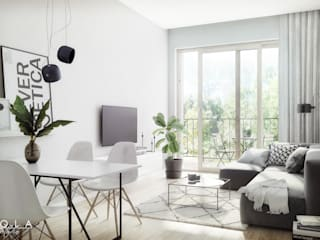 Living room by Kola Studio Architectural Visualisation,