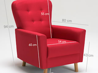K105 Mobilya Pazarlama Danışmanlık San.İç ve Dış Tic.LTD.ŞTİ. Living roomSofas & armchairs Wood Red