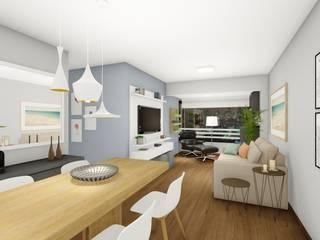 Moderne Wohnzimmer von Rafael Caldeira Arquitetura Modern
