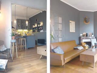 SOISSONS - Rénovation complète d'un appartement de 60m2 Salon original par SOHA CONCEPTION Éclectique