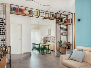 manuarino architettura design comunicazione Built-in kitchens Iron/Steel Green