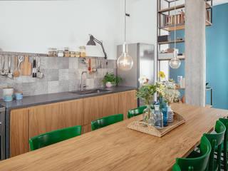 Casa Ca_Sa Sala da pranzo in stile industriale di manuarino architettura design comunicazione Industrial