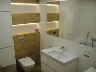 Remont łazienki w bloku: styl , w kategorii  zaprojektowany przez ABC Remonty Oleba